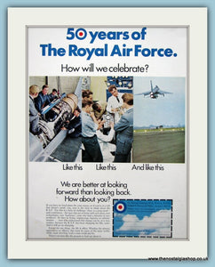 Royal Air Force 50 years Original Advert 1968 (ref AD6307)