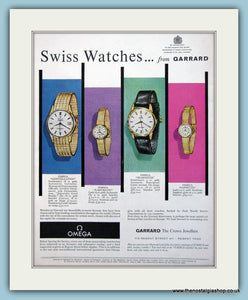 Omega Swiss Watches. Original Advert 1963 (ref AD6100)