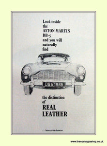 Aston Martin DB-5 Original Advert 1965 (ref AD6737)