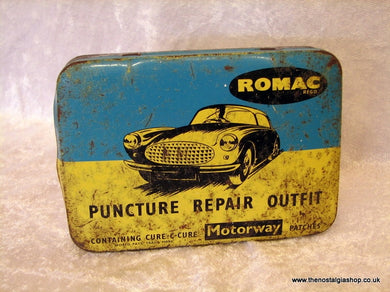 Romac Puncture Repair Tin 1960's (ref nos026)