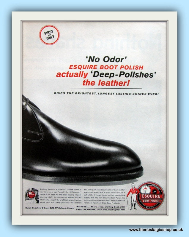 Esquire Boot Polish. Original Advert 1960 (ref AD8115)