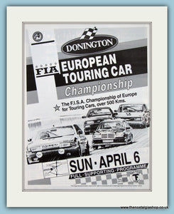 Touring Car Championship Donnington 1986. Original Advert (ref AD2035)