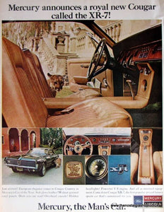 Ford Mercury Cougar XR-7 Original Advert 1967 (ref Ad4039)
