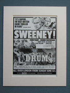 Sweeney & Drum 1977 double bill advert (ref AD617)