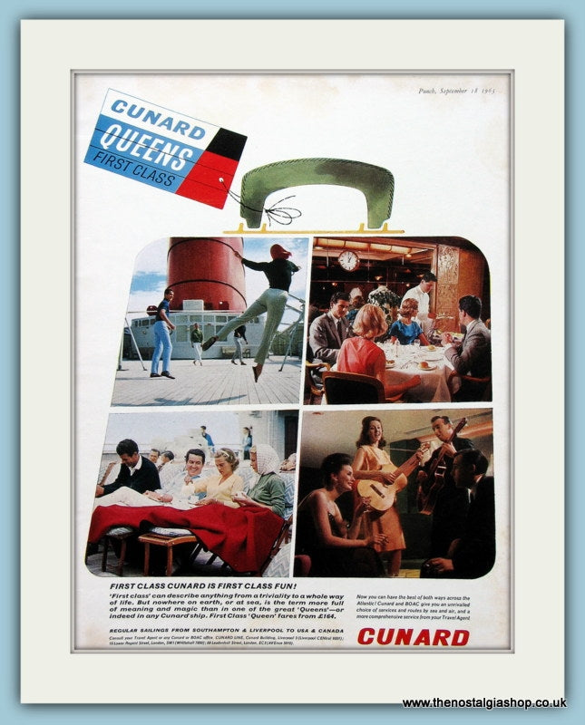 Cunard Original Advert 1963 (ref AD2275)