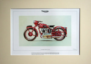 Triumph Speed Twin   Mounted print  Ltd Edition (ref PR1)