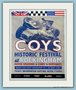 Coys Historic Festival 2001. Original Advert (ref AD2026)