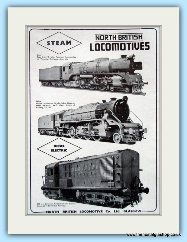North British Locomotives Original Advert 1951 (ref AD6477)