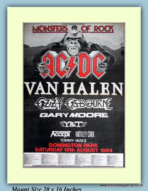 Monsters Of Rock Donnington Park Original Advert 1984 (ref AD9082)