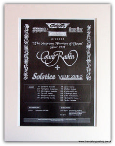 Count Raven & Solstice Year Zero Tour Advert 1994 (ref AD 1784)