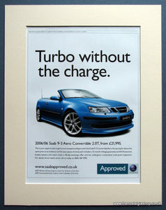 Saab 9-3 Aero Convertible 2006 Original Advert (ref AD1494)