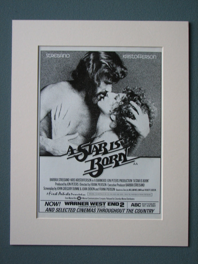 A Star Is Born Original Advert 1977 (ref AD515)