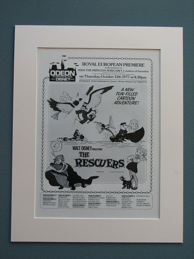 The Rescuers 1977 Original advert (ref AD661)
