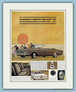 Sport Fury Chrysler Original Advert 1965 (ref AD8295)