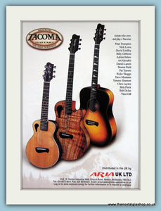 Tacoma Guitars Original Advert 2002 (ref AD2751)