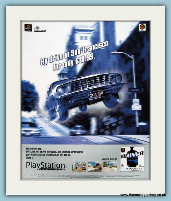 Driver Playstation Game Original Advert 2000 (ref AD4006)