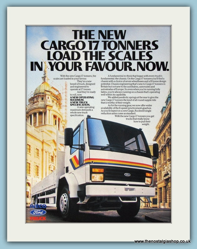 Ford Iveco Cargo 17 Tons Original Advert 1988 (ref AD2943)