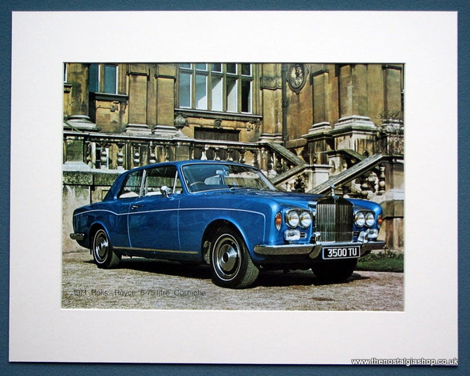 Rolls - Royce 6.75 Litre Corniche 1971. Colour Photo Print 1971 (ref AD1336)