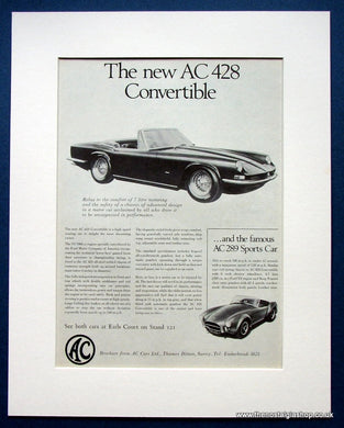 AC 428 Convertible 1966 Original Advert (ref AD1446)