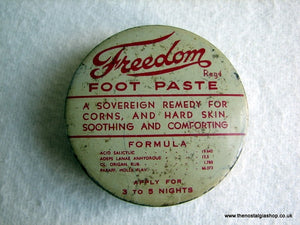 Freedom Foot Paste Tin. (ref Nos027)