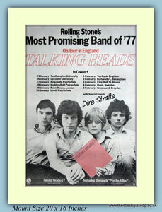 Talking Heads On Tour 1978 Original Advert (ref AD9119)