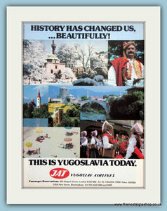 Yugoslav Airlines Original Advert 1978 (ref AD2155)