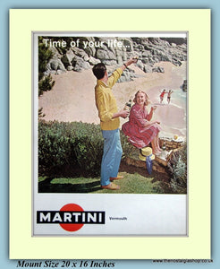 Martini Vermouth Original Advert 1966 (ref AD9420)