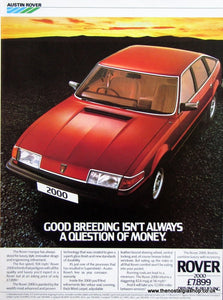 Rover 2000 1983 Original Advert (ref AD 1638)