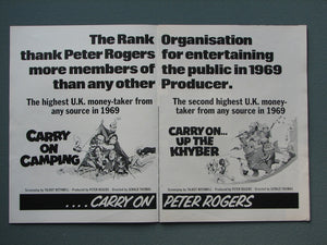 Carry On Films 1969 Original advert (ref AD804)