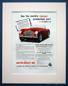 Austin Healey 100. Original advert 1953 (ref AD1385)