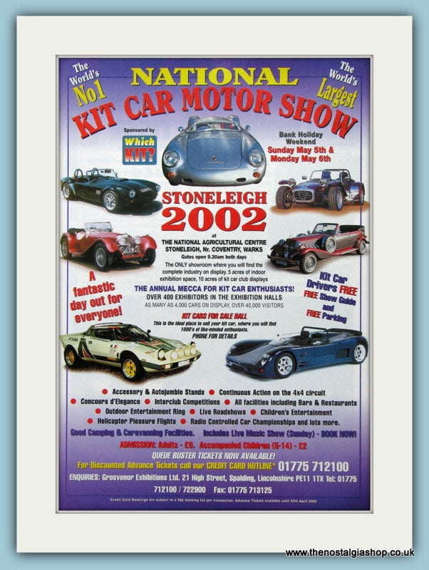 Kit Car Motor Show 2002. Original Advert (ref AD2027)