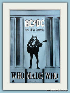 AC DC Who Made Who Original Advert 1986 (ref AD3101)