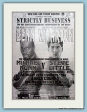 Load image into Gallery viewer, Nigel Benn v Henry Wharton 1994 Original Advert (ref AD4413)