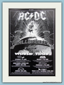 AC DC Ballbreaker World Tour 1996 Original Advert (ref Ad3100)