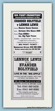 Load image into Gallery viewer, Lennox Lewis v Evander Holyfield. Set of 3 Adverts 1999 (ref AD4399)