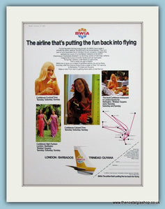 BWIA Airline Original Advert 1974 (ref AD2171)