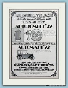 Beaulieu Autojumble Event 1972. Original Advert. (ref AD2004)
