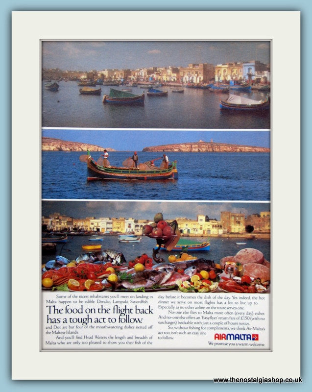 Airmalta Original Advert 1983 (ref AD2131)