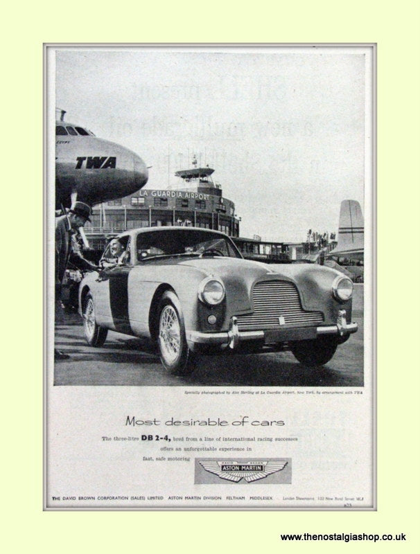 Aston Martin DB 2-4 Set of 3 Original Adverts 1954/55 (ref AD6715)