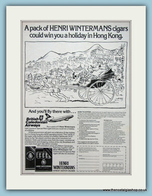 Henri Wintermans Dutch Cigars Original Advert 1980 (ref AD6139)