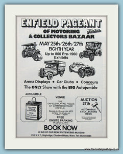 Enfield Pageant of Motoring 1985. Original Advert (ref AD2008)