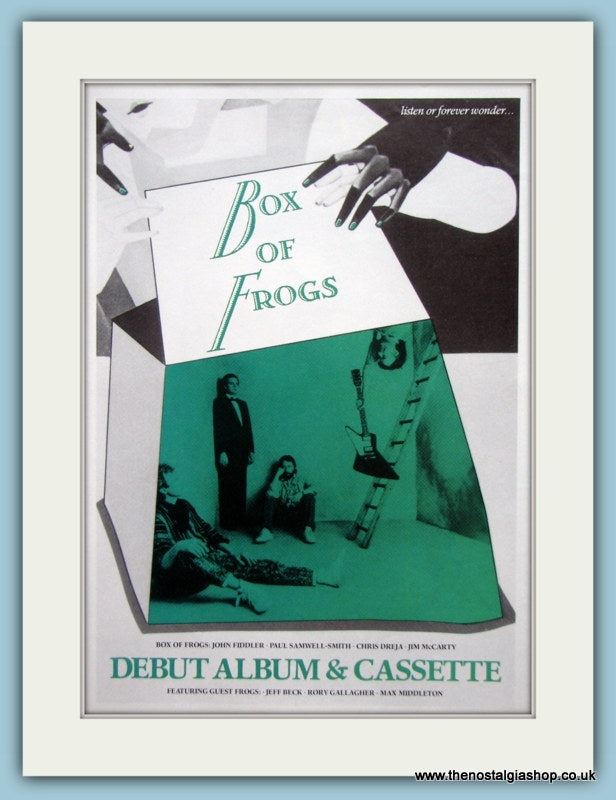 Box Of Frogs Listen Or Forever Wonder.. Original Music Advert 1984 (ref AD3391)