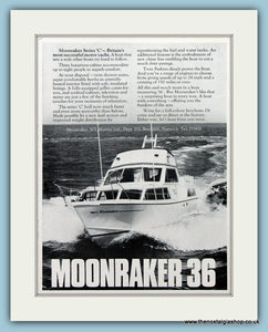 Moonraker 36 Motor Yacht Original Advert 1973 (ref AD2338)