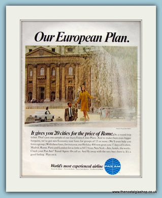 Pan Am Airline Original Advert 1967 (ref AD8278)