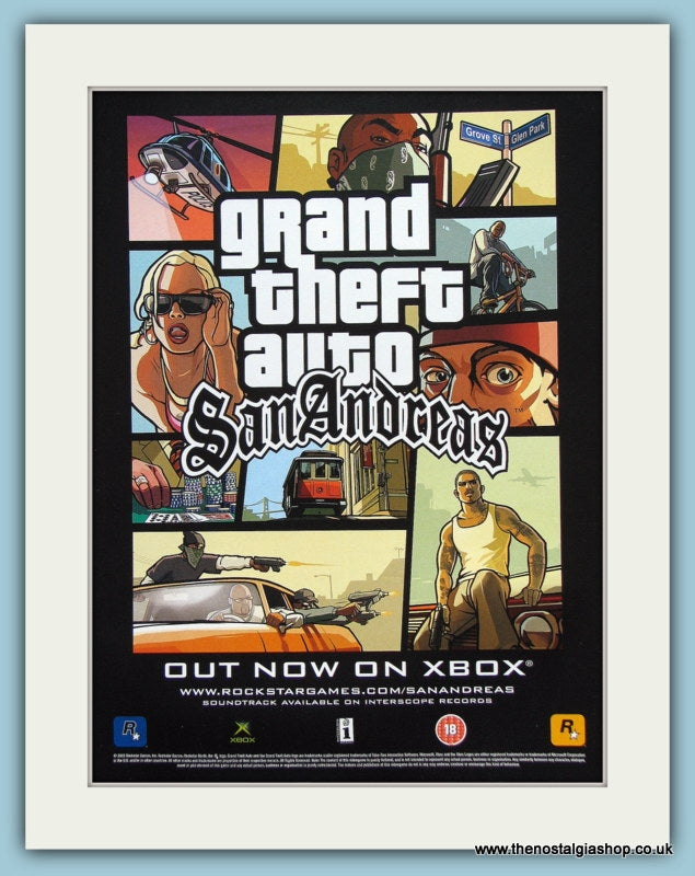 Grand Theft Auto San Andreas Original Advert 2005 (ref AD3988)