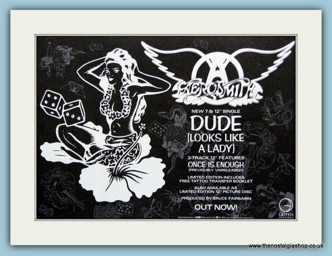 Aerosmith Set of 4 Original Adverts. (ref AD3115)