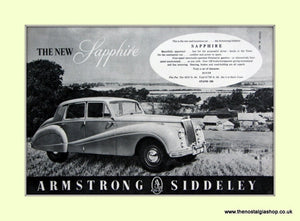 Armstrong Siddeley Sapphire Original Advert 1952 (ref AD6676)