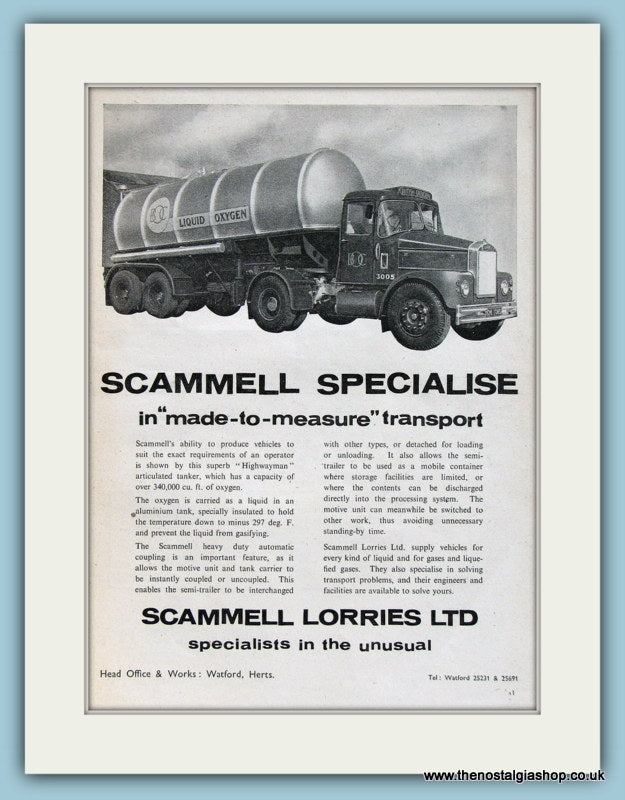 Scammell Lorries Ltd Original Advert 1960 (ref AD2981)