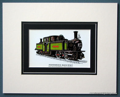 Festiniog Railway 'Earl Of Merioneth' Mounted Print (ref SP82)