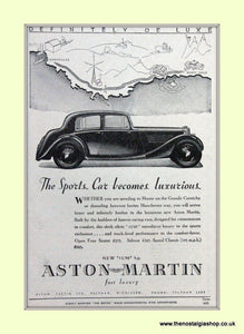 Aston Martin The Sports Car Original Advert 1937 (ref AD6728)